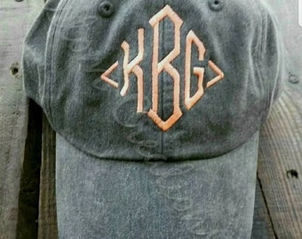 Monogrammed ball cap, personalized hat