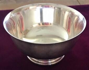Vintage Solid Silverplate Bowl By GORHAM EP YC778