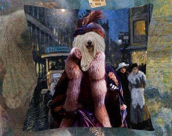 Komondor Art Pillow Case Throw Pillow   Perfect DOG LOVER Gift for Her Gift for Him