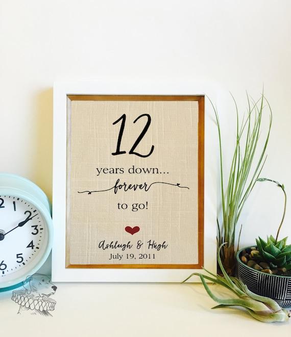 Gift For 12 Year Wedding Anniversary: 12 Year Anniversary Gift Linen Anniversary 12th