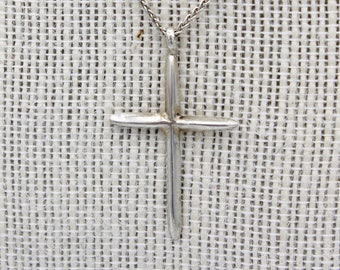 Sterling Silver Sand Cast Cross