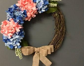 SALE Hydrangea wreath Mother's Day