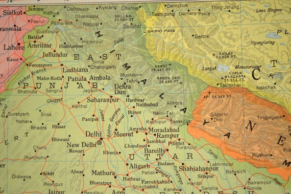 Northern india map north india map nepal himilayas gumiabroncs Image collections