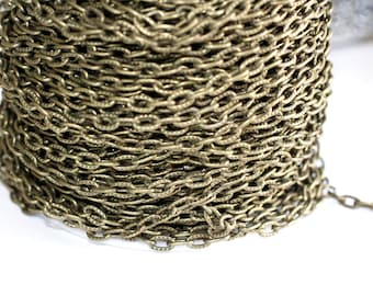 15ft Antique Bronze 7.2x4.4mm Cable Chain links