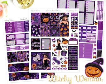 Witchy Woman - Printable Planner Stickers - Instant Download