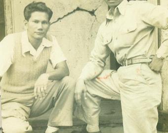1952 C.I. Laboratory Manila Police Department Phillipines Men 1950s Vintage Photograph Black White Photo