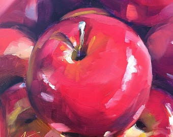 apples // beet // apple painting // apple art // fruit // fruit art // fruit painting // original artwork // original art // daily painting