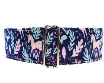 Martingale Collar Unicorn, 2 Inch Martingale Collar, Unicorn Dog Collar, Whippet Collar, Whimsical Dog Collar