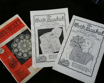 Lot of 1940s 50s WORKBASKET  Magazines
