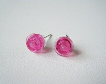 Earrings Lego transparent pink ♥ ♥ ♥