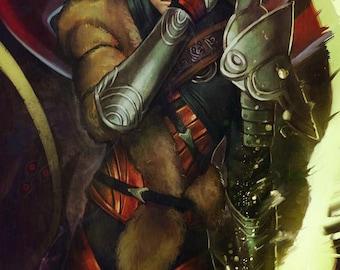Dragon Age Inquisition Solas the Dread Wolf Open Edition Art Print 11x17 inch