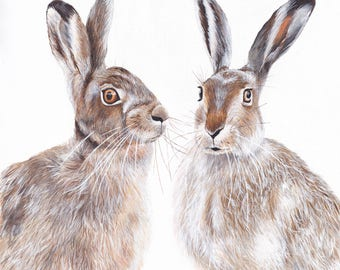 Hare painting, Hare print