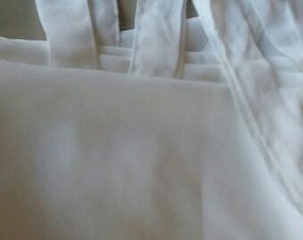 Panel sheer polyester tie tabs