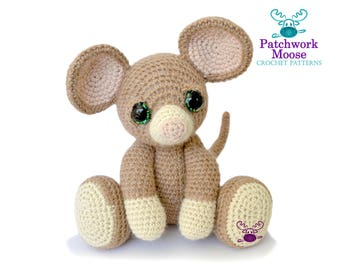 Mouse Amigurumi Crochet Pattern PDF Instant Download - Basil
