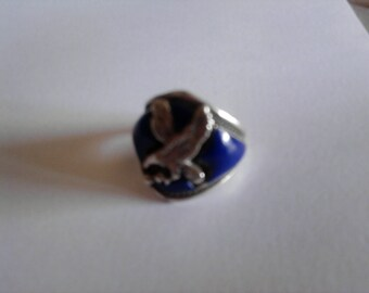 ring - silver Eagle ring - signet ring eagle