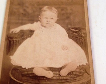 Vintage Baby Photo, Antique Baby Photo, Vintage Photo Card, Vintage Photography