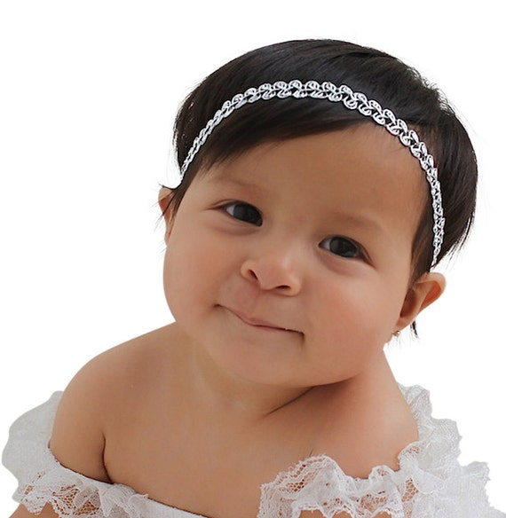 Silver Baby Headband, Baby Headband, Baby Headbands, Silver Headband, Infant Headbands, Newborn Headband, Headband Baby, Headband Silver