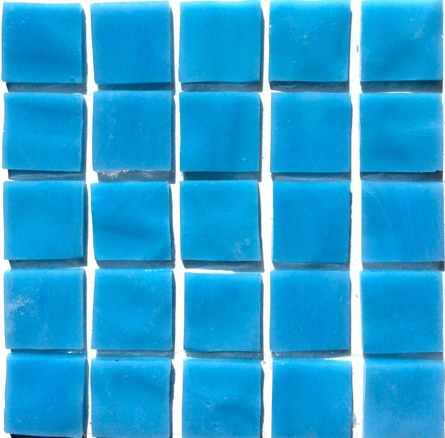 20mm 3/4 Turquoise Blue TIFFANY Stained Glass Mosaic