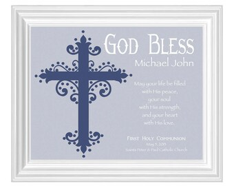 First Communion Personalized Gift- Gift for Communion- Unique Keepsake- Other colors available