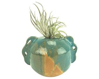 Hand-Thrown Ceramic Succulent Planter - Airplant - Aqua