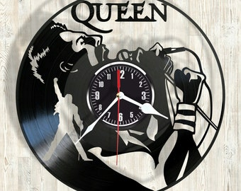 QUEEN vinyl record wall clock best eco-friendly gift for any occasion