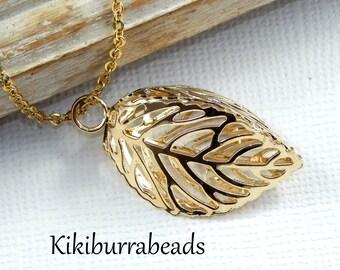 Leaf Necklace,Gold Leaf Necklace,Leaf Jewelry,Botanical Jewelry