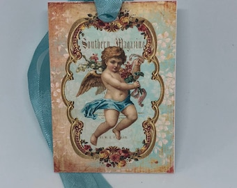 Cherub Gift Tags, Rose Tags, Shabby Chic Tags , Soft Pink Tags , Pink Roses , Vintage Rose, French Tags , Vintage INSPIRED Gift Tags