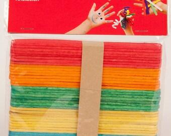 Multicolor 50 x wooden stick (11.4 x 1 cm) - love - Ref 13064 - until the stock!