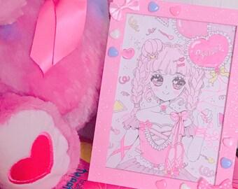 Original Framed Illustrations - Menhera Fairy Kei Yumekawaii