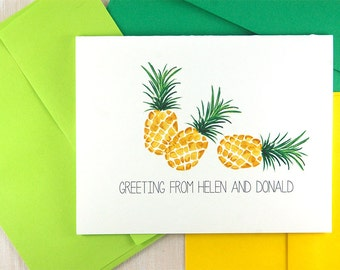 Pineapple Note Cards, Pineapple Stationary Set, Pineapple Gift, Thank You Cards,