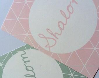 Shalom postcard set of 2