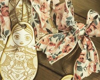 Babushka doll ornaments - gift tags -russian nesting doll