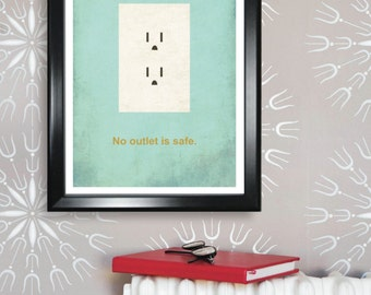 Electrical Engineering minimalism 11x17 poster print - Graduation Gifts and Dorm Decor