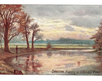 1909  Columbia River Oregon Vintage Postcard