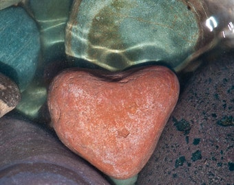 Heart Rock, Montana Rock, Nature's Valentine Card, Romantic Gift, River Rock, Photograph or Greeting card