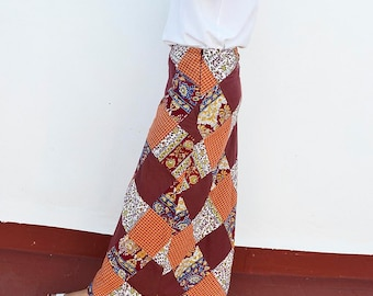 womens wrap skirts,Patchwork wide skirt