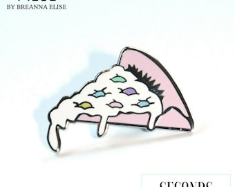 Treatza Pizza Hard Enamel Pin Seconds