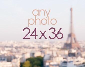 Any 24 x 36 Photograph, Wall Decor, Paris, France, Travel, Home Decor, Large Photo