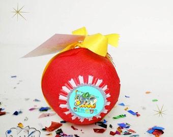 Circus Surprise Ball - Circus Party Favor - Unique Circus Gift - Bog Top Party Birthday - Vintage Circus Novelty Toy - Birthday Girl or Boy