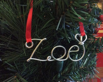 First Christmas Personalized Ornament,Zoe ornament,Christmas ornament handmade,name ornament,christmas ornament personalized
