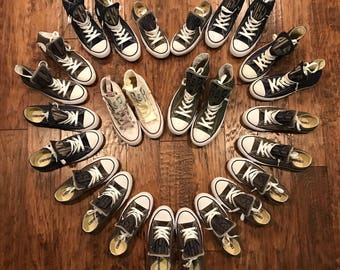 Converse - Personalized Shoes - Wedding Shoes - Personalized Wedding Shoes - Converse - Monogrammed Converse - Shoes