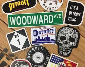 Detroit Sticker Bundle of 10