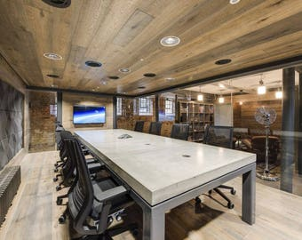 Concrete Conference Room, Board Room, Executive Table.