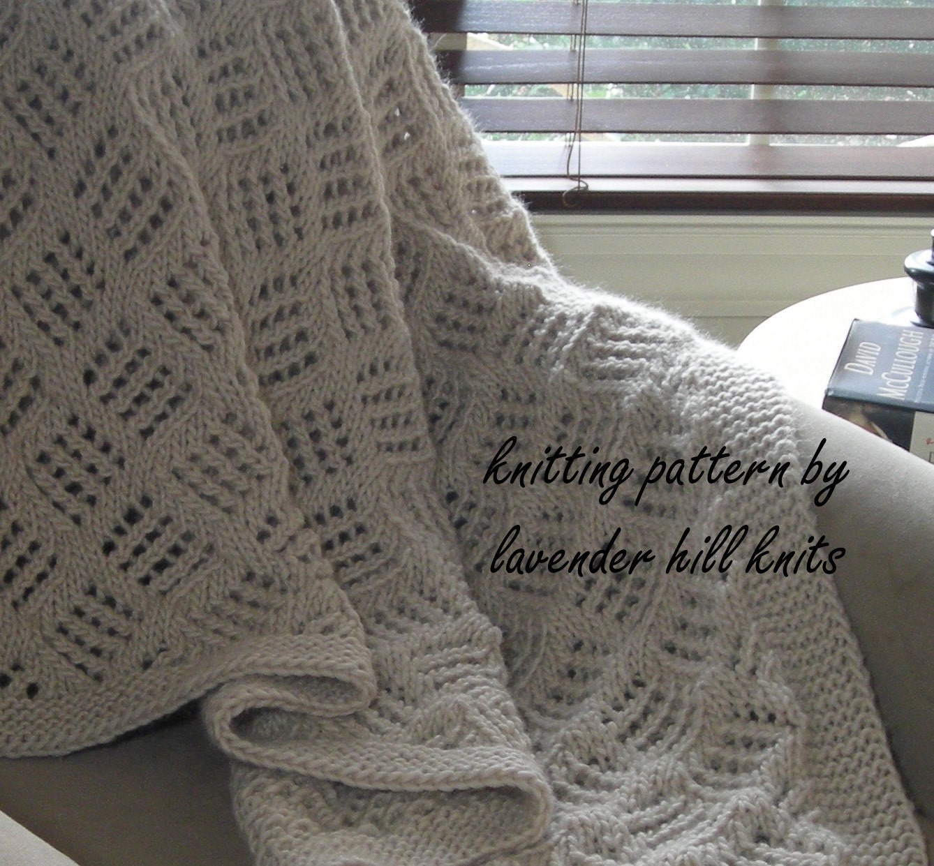 Knitted Throw Blanket PDF Knitting pattern for blanket