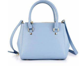Luxury Saffiano leather little purse Amalfi. Bag collection from Corsettery. Gift, real leather bag, female bag