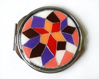 Colorful Pocket Mirror, multicolor pocket mirror, makeup tool, hand mirror, women mirror, lipstick mirror