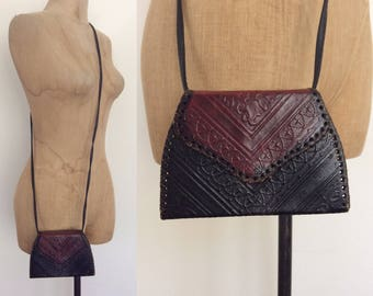 Itty Bitty Hand Tooled Leather Shoulder Bag