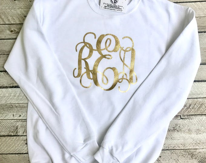 Monogrammed Sweatshirt, Monogram Sweatshirt, Monogram Pullover, Monogram sweater, Glitter Monogram, Mother Daughter Sweatshirts, Christmas