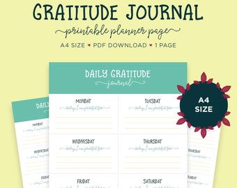 Gratitude Journaling, Self Care, Thankful, Gratitude Journal, Printable Planner, Self Help, Gratitude Printable, Mindfulness, Anxiety Relief