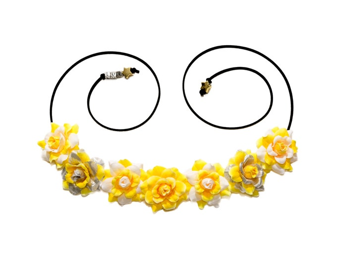 Yellow Mighty Morphin Flower Crown